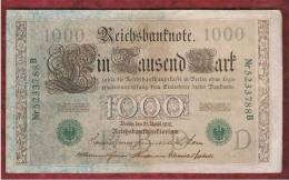 ALEMANIA - GERMANY - 1000 Mark 1910 MBC+   P-45b - [ 2] 1871-1918 : German Empire