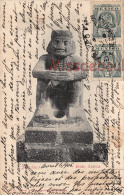 MEXICO - Cuidad City -Tarjeta Antigua  - Idolo Azteca - Idole Aztèque - 1905 - Dos Précurseur - 2 Scans - Mexico