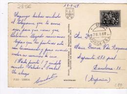 2856    Postal Portugal  Caparica - F.n.a.t 1968 - 1910-... República