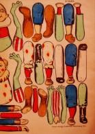 PLANCHE IMAGERIE ALSACIENNE STYLE EPINAL A DECOUPER-ANIMAUX,PERSONNAGES- N°1682 - Collezioni