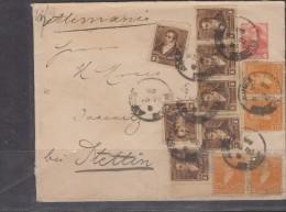 O) 1895 ARGENTINA, POSTAL STATIONARY MULTIPLE, PRESIDENT BERNARDINO RIVADAVIA, XF - Postal Stationery