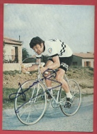 Coureur Cycliste Français : Bernard Thévenet - Equipe Peugeot - Signature Originale - Cyclisme