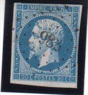 "FRANCE : PC 983 . "" COULMIER LE SEC "" . (20) . N° 14 . TB . SIGNE . - Marcophily (detached Stamps)"