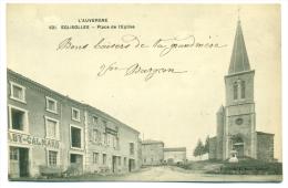 CPA 63 Eglisolles Place De L'église - Autres Communes
