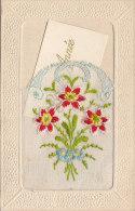 Matériaux - Carte  Brodée Fleurs - Carte Mignonette Bonne Année - Villeperdue 37 - Cartes Postales