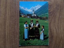 46447 POSTCARD: SWITZERLAND: VS VALAIS: Lotschentalertracht.  Lotschenlucke Und Schinhorn. - VS Wallis