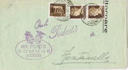 14497. Carta Impresos SONCINO (Cremona) 1935. Certificado Empadronamiento - 1900-44 Vittorio Emanuele III
