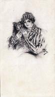 Original Bleistiftzeichnung Eines Künstlers Signiert, Datiert 1926 (Orig., Kein Druck), 16,5 X 9,5 Cm - Dessins