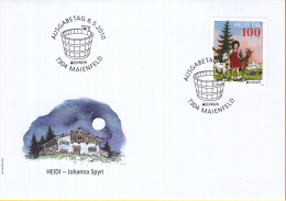 "Zwitserland - FDC 6-5-2010 - Kinderbuchfigur ""Heidi"" - Johanna Spyri - M2157 - Fairy Tales, Popular Stories & Legends"