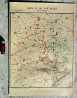 BATAILLE DE COULMIERS 9 Nov 1870 Arr Orléans Loiret GRAVURE De 1887 Env Ormes Meung-sur-Loire PLAN COMBAT MILITAIRE R177 - Historical Documents