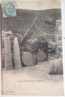 Très Belle CPA Animée, 1901-1909 Tailleurs De Pierre Dans Les Carrières De Provencheres Sur Meuse En Haute-Marne. Gros P - France