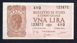 Banconota Da Una Lira Del 1944 - [ 1] …-1946 : Kingdom