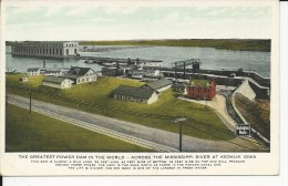Carte Postale  Etats Unis  :  The Greatest Dam In The World Across The Mississippi River At Keokuk , Iowa - Etats-Unis