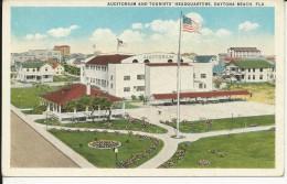 Carte Postale  Etats Unis  : Auditorium And Tourists' Headquarters - Daytona Beach , FLA - Daytona