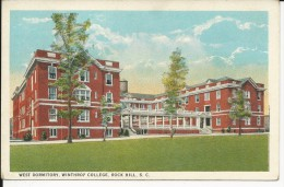 Carte Postale  Etats Unis  : West Dormitory College  , Rock Hill . S.C - Rock Hill