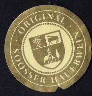 # GOLD MEDAILLE ORIGINAL SOOSSER HAUERWEIN Austria Wine Bottle Accessory Label Wein Vin Vino Etiquette Etikett - Etiketten