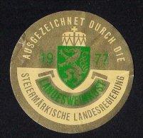 # GOLD MEDAILLE 1977 STEIERMARKISCHE LANDESWEINKOST Austria Wine Bottle Accessory Label Wein Vin Vino Etiquette Etikett - Etiketten