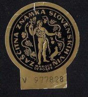 # GOLD MEDAILLE ZASCITNA ZNAMKA SLOVENSKIH VIN Slowenien Slovenija Wine Bottle Accessory Label Wein Etiquette Etikett - Etiketten