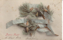 Branches De Pin Avec Ruban Bleu ( B - 115) - Noël