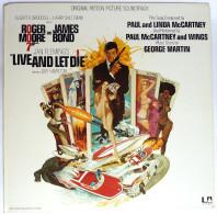 Disque Vinyle 33T JAMES BOND - LIVE AND LET DIE - UA LA 100 G - 1973 - Disques & CD