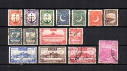 Pakistán  1948 .-   Y&T  Nº   24/29 - 33/41 - Pakistan