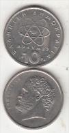 GREECE - Democrito, Coin 10 GRD, 1994 - Grèce