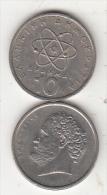 GREECE - Democrito, Coin 10 GRD, 1976 - Grecia