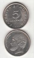 GREECE - Aristoteles, Coin 5 GRD, 1994 - Greece