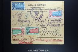 REUNION: Lettre Par Avion Reunion France Par Goulette & Marchesseau 29-11-1929 RRR - Luchtpost