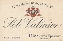BU 1369- BUVARD    CHAMPAGNE  POL VALMIER  DIZY PRES EPERNAY   MARNE - Agriculture