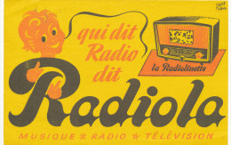 BU 1379 - BUVARD  -   QUI DI RADIO DIT RADIOLA - Buvards, Protège-cahiers Illustrés