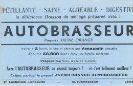 BU 1384 - BUVARD  -    BOISSON PETILLANTE  AUTOBRASSEUR - Limonades