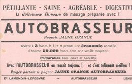 BU 1385 - BUVARD  -    BOISSON PETILLANTE  AUTOBRASSEUR - Limonades