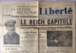 Journal Liberté - Le Reich Capitule Du 8 Mai 1945 - Documents Historiques