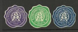 1925 Poster Stamps Siegelmarken LJUBLJANA MNH - Cinderellas