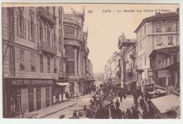 CPA Nice, Le Marché Aux Fleurs Et L'opera (pk22963) - Markets, Festivals