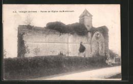 CPA Targon, Ruines De L'église De Montarouch - France