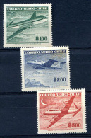 CHILE Yvert # A 160/2 Complete Set MH, VF - Chili