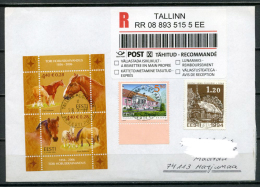 ESTONIA Estland Eesti Postal Registered Recommande Cover Cancelled 2006 - Stamp Sesquicentennial Of Tori Stud Farm - Estonia