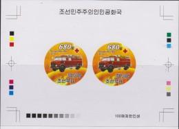 O) 2008 KOREA, PROOF, OLD FIRETRUCK, MERCEDES BENZ-METZ FL16, XF - Korea (...-1945)