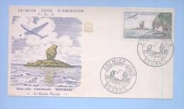 NOUVELLE CALEDONIE (New Caledonia) - Premier Jour FDC - YT PA 72 - 1959 - La Roche Percée Bourail, Avion - FDC