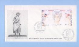 NOUVELLE CALEDONIE (New Caledonia) - Premier Jour FDC - YT BF 9 - 1989 - Bicentenaire De La Révolution Française - FDC