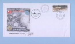 NOUVELLE CALEDONIE  - WALLIS ET FUTUNA - Enveloppe évènementielle 2010 -  Cyclone Tomas à Futuna, Batral Jacques-Cartier - Cartas