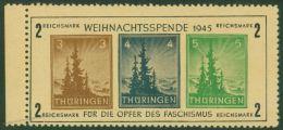 Germany Soviet Zone SBZ Thueringen Block 1t Christmas 2M Weihnachtsspende  49965 - Postzegels