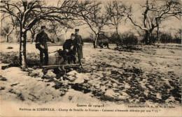 ENVIRONS DE LUNEVILLE .. CHAMP DE BATAILLE DE FRESCATI .. CAISSONS ALLEMANDS DETRUITS PAR NOS 75 - Luneville