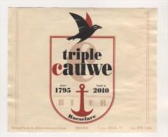 BIERE TRIPLE CAUWE ROESELARE - BRASSERIE DE SILLY BELGIQUE - ANCRE DE MARINE, OISEAU 1795 - 2010  - VOIR LE SCANNER - Bière