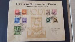 Italy 1947 British Occupation Of Italian Colonies Carpathos, Souvenir Cover - British Occ. MEF