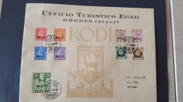Italy 1947 British Occupation Of Italian Colonies, Calymnos, Souvenir Cover - British Occ. MEF
