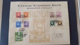 Italy 1947 British Occupation Of Italian Colonies, Carpatos, Souvenir Cover - British Occ. MEF