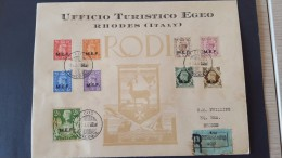 Italy 1947 British Occupation Of Italian Colonies, Cos, Registered Souvenir Cover - British Occ. MEF